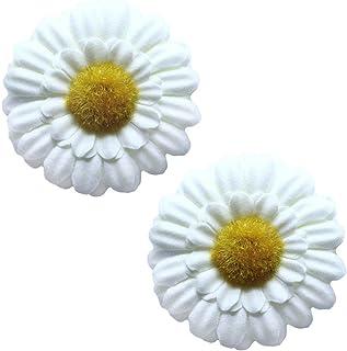 tumundo 2 fermacapelli forcina mollette per Capelli con Fiore margheritina codino Hippie Flower Power Blu Rosa Fucsia Bianco