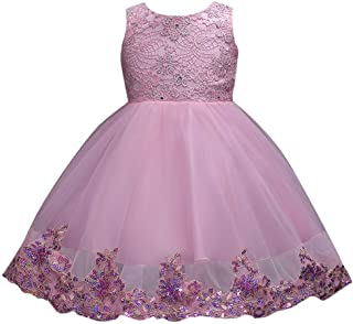 Party Dress for Girls, YESOT Floral Baby Girl Princess Bridesmaid Pageant Gown Birthday Party Sequin Wedding Dress