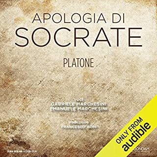 Apologia di Socrate [The Apology of Socrates] audiobook cover art