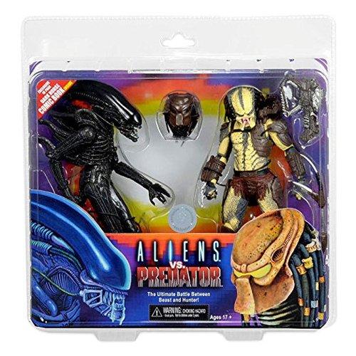 NECA - Figurine Alien vs Predator - Pack 2 Figurines + Mini Comic Dark Horse Exclu 18cm - 0634482513842