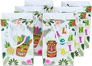 WERNNSAI 16PCS Aloha Party Favor Bags - Hawaiian Tropical Party Supplies Tiki Pineapple Gift Bags Birthday Baby Shower Sum...