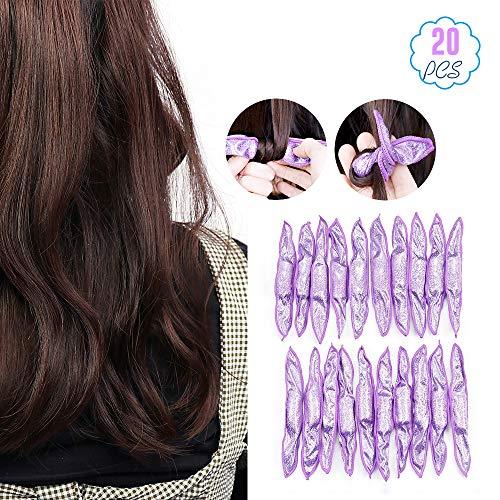 Lot de 20 rouleaux en mousse souple pour cheveux - Pas de chaleur - Coussins de sommeil doux et doux - Pour les soins des cheveux