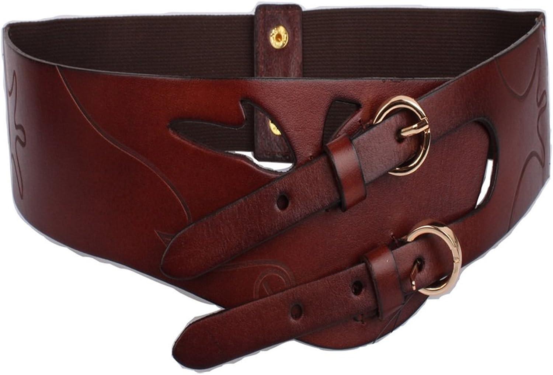 Canvas Belt Women's Belt Leather Lady Waist Belt Elastic Strech Wide Belt for Dress Women