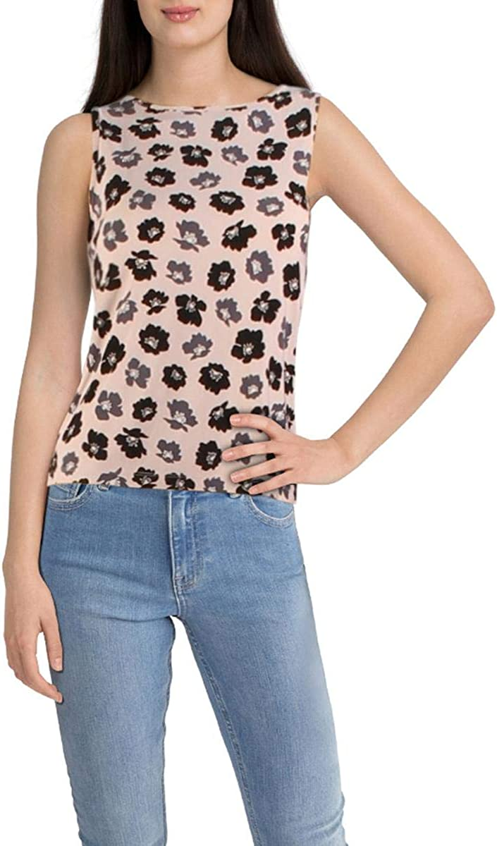 Anne Klein Womens Giverny Scoop Neck Tank Shell