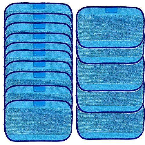 Vpsan Nasswisch-Mikrofasertücher,Wischen Tücher 10 nass für iRobot Braava 380 380t 320 Minze 4200 4205,10er-Set (10er Blau)
