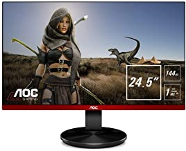 AOC G2590FX 24.5in Framless Gaming Monitor, FHD 1920x1080, 1ms, 144Hz, FreeSync, 96% sRGB, Low Input Lag, DisplayPort/HDMI...