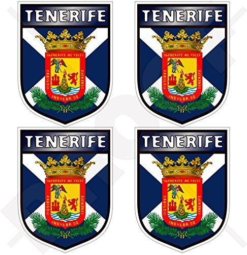 TENERIFFA INSEL Schild KANARISCHE INSELN Spanien, Islas Canarias Spanisch 50mm Auto & Motorrad Aufkleber, x4 Vinyl Stickers