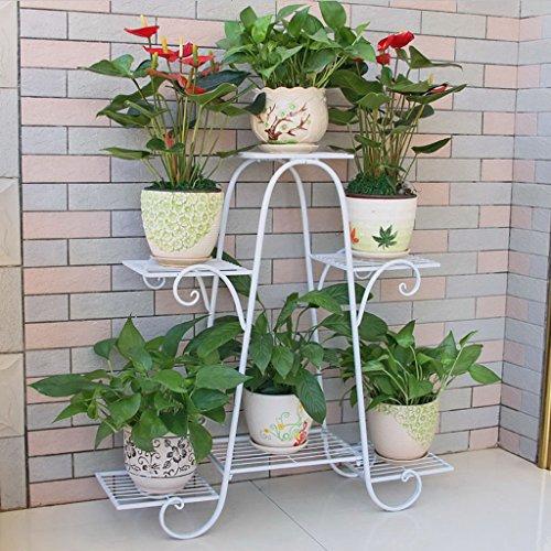 Porte-fleurs / cadre intérieur de l'intérieur et de l'extérieur / poteaux d'escalier à plusieurs étages / présentoir de fleurs de plantes ( taille : 76*23*73cm )