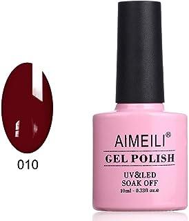 AIMEILI Soak Off UV LED Gel Nail Polish - Red Vixen (010) 10ml