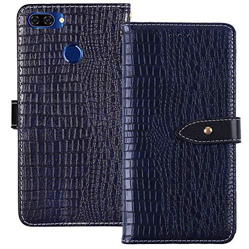 YLYT Flip TPU Silikon Hülle Etui Blau Leder Tasche Schutz Hülle Für OUKITEL U22 5.5 inch Handy Horizontale Standfunktion Magnetverschluss Strapazierfähiger Cover