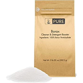 PURE Borax Powder (2 lb.), Pure Borax, Multipurpose Cleaning Agent, Ideal Slime Ingredient
