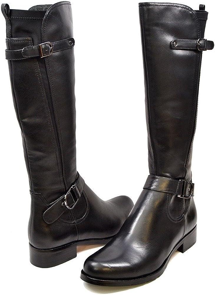 SoleMani Abigail Slim Ranking TOP3 Max 46% OFF Calf Women's Boot Leather Siz 13
