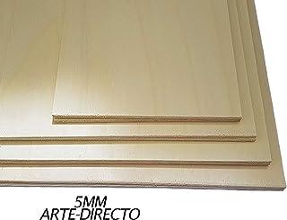 Tableros de Madera, CONTRACHAPADO Fenólico. Cortados a Medida. Fabricados en España. Calidad Profesional. (A5 (Espesor 5mm), 5)