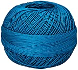 Handy Hands Lizbeth Egyptian Cotton Crochet, Tatting, Knitting Thread Lace Size 20 (25 Grams 210 Yards) – HH20663, Bright Turquoise Dark
