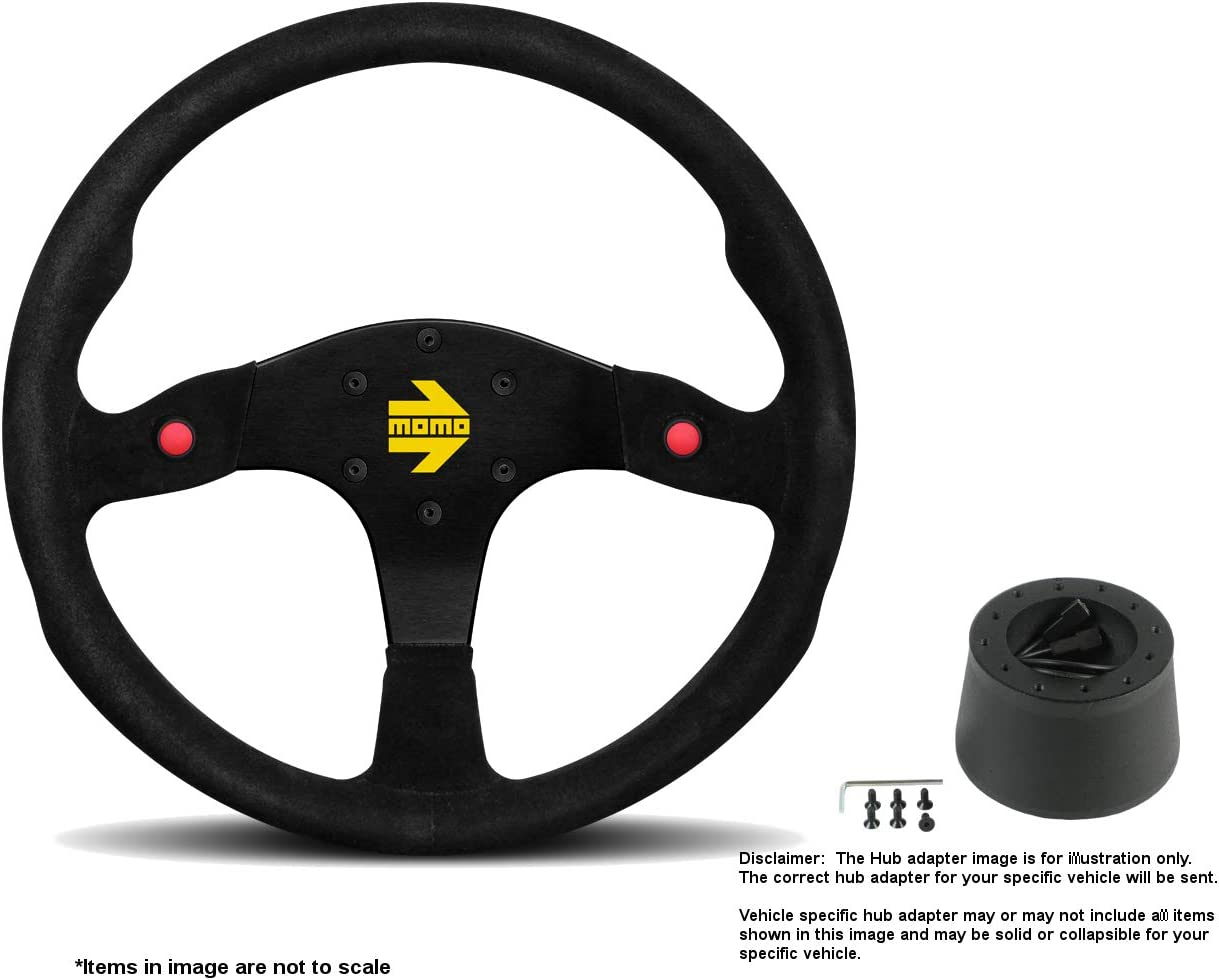 MOMO Fresno Mall MOD.80 350mm 13.78 Inches Steering Wheel w Limited price Suede Brushed