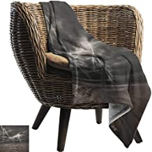 Nature,Lightweight Blanket,Thunder Flashes Across The Sandy Beach from A Powerful Storm Radiant Beams Print 60