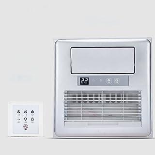 GX&XD Embedded Aire Acondicionado portátil para Cocina Baño,Techo Integrado Ventilador eléctrico con la luz Climatizador portátil con Control Remoto-D 12x12inch