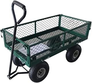 Garden Cart Yard Dump Cart Wagon Carrier 400 Lbs Load Capacity with Wheel and Anti-Skid Handle for Outdoor