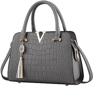 Neartime Women Handbag, 2018 Woman's Tassel Crossbody Bags Leather Satchels Alligator Pattern Zipper Shoulder Bag