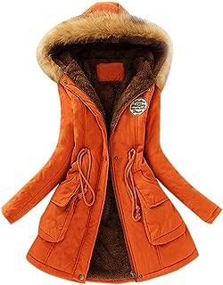 UJGYH Womens Winter Coats Warm Fur Collar Long Coat Hooded Slim Winter Parka Outwear Jacket