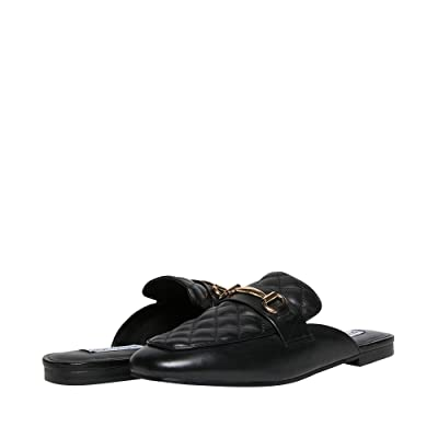 Steve Madden Kori-Q Mule (Black Leather) Women