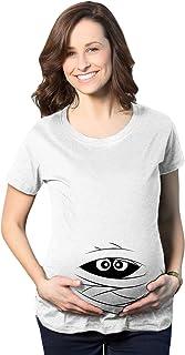 Crazy Dog Tshirts - Maternity Peeking Mummy Tshirt Cute Funn