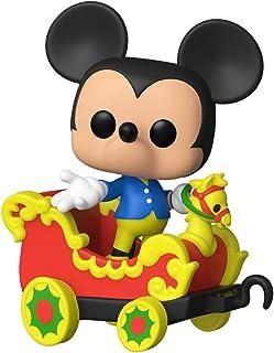 Funko Pop! Disney: Casey Jr. Circus Train Ride - Figura de Mickey Mouse en coche de vinilo