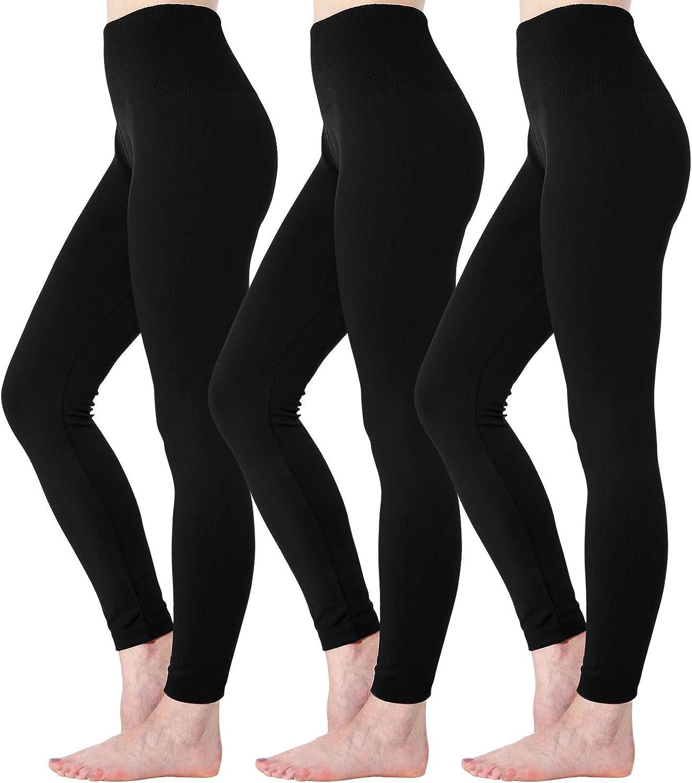 Diravo Fleece Lined Leggings Womens Fashion High Waist Tummy Control Leggings for Women Winter Warm