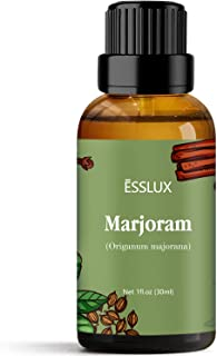 Marjoram Essential Oil, Esslux Aromatherapy Oils for Diffuser, Massage, Soap, Candle Making, Perfume, 30 ml