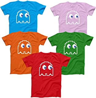 8-Bit Video Game Ghost Halloween Costume Youth Shirt (Multiple Colors Available)