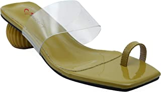 Shuberry SB-19012 Latest Footwear Collection, Comfortable & Fashionable Patent in Black, Green & Khaki Colour Sandal for Women & Girls
