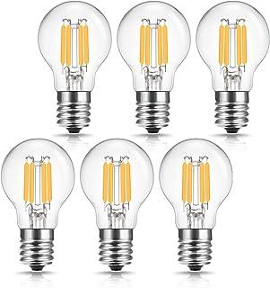 ドリスショップ フィラメント電球 E17口金 40W形相当 LED電球 ミニクリプトン電球 エジソン電球 クリア電球 電球色 全方向 シャンデリア用 密閉形器具対応 6個入