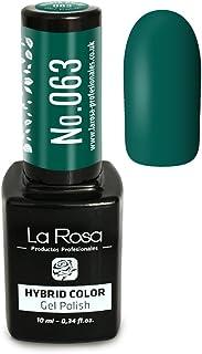 La Rosa UV LED Hybrid Color Gel Esmalte Semipermanente Gellack no.063 - verde oscuro matiz esmeralda