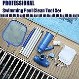 Swimmer Pool Skimmer Set Kit,Chorro de vacío para Piscina, Aspirador de Piscina portátil para Mantenimiento de Piscinas, Limpieza de Fuentes de estanques, Hojas, Tierra, Arena y Limo