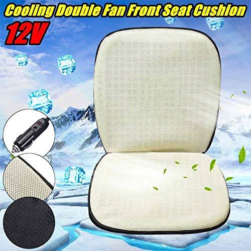 SHG CAR Ventilation Sitzkissen Fan Blowing 12V / 24V Auto-Sitz Cooling Pad Fit Die meisten Auto-LKW Van SUV,Dc12v