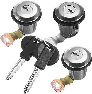 Rekkle Schließzylinder und Schlüssel Set für Zylinderschloss oder Türschloss Kompatibel für Peugeot Partner Xsara Citroen Berlingo 252522 9170.G3 9170.CW