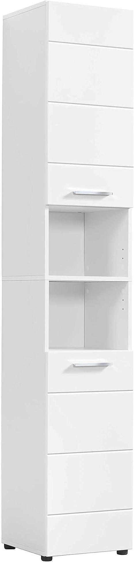 mokebo® Bad Hochschrank 'Der Kapitän', moderner Badschrank & Midischrank,  Made in Germany   20x20x20 B/H/T in cm