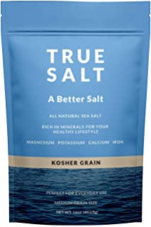 True Salt - Gourmet Kosher Grain Salt - 16 Ounce, 1 Bag - Sustainably Sourced from the Sea of Cortez