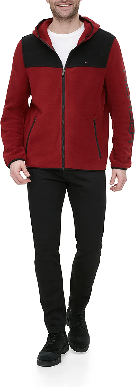 Tommy Hilfiger Men's Overseas parallel import regular item Hooded Max 73% OFF Jacket Legacy Fleece