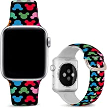 DOO UC Floral Bands Compatible with iWatch 38mm/42mm/40mm/44mm, Cartoon Images Silicone..