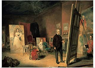 GREATBIGCANVAS Poster Print Entitled 'Portrait of Sir Francis Grant in his Studio' Painting by John Ballantyne by 30