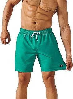 Mens Quick Dry Solid 4 Way Stretch Swim Trunks Mesh Lining Swimwear Bathing Suits 281118513