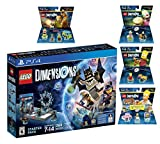 Lego Dimensions Starter Pack + The Simpsons Homer Simpson Level Pack + Bart Simpson Fun Pack + Krusty Fun Pack + Scooby Doo Team Pack Playstation 4 PS4