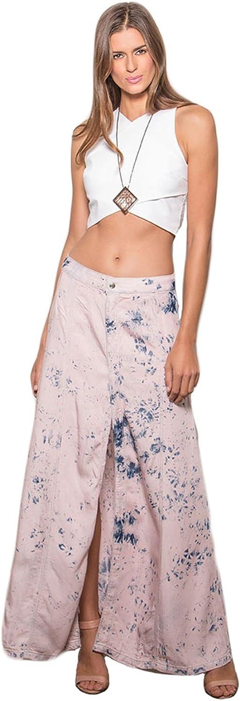 Standards & Practices Modern Women's Tencel Denim Front Slit Dip Dye Maxi Skirt