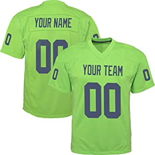 GENPO Custom Green Mesh Replica Football Game Jersey Embroidered Team Name and Your Numbers