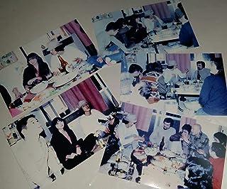1980年 松田優作と探偵物語の仲間たちのオフショット 飲み会 写真5枚 熊谷美由紀松田美由紀 山西道広 重松収 清水宏 前田哲朗 山口 名俳優