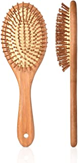 PRETTY SEE Wooden Hair Brush with Air Cushion Combs for Scalp Massage Anti-static, No Hair Tangle