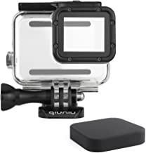 Standard Protective Waterproof Dive Housing Case for GoPro Hero 5/6/7 Black Action Camera - Up to 45 Meters - Protective Lens Removal NOT Needed - Transparent Clear