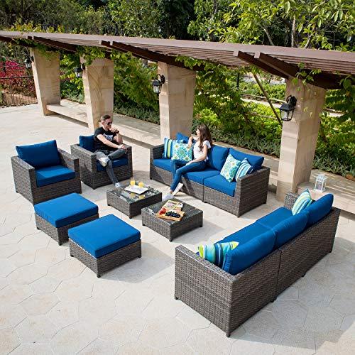 XIZZI Patio Sectional Sofa Set