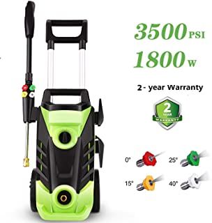 Homdox 3500 PSI Pressure Power Washer Cleaner, 2.6GPM High Pressure Washer, Professional Washer Cleaner Machine with 4 Interchangeable Nozzles,with Telescopic